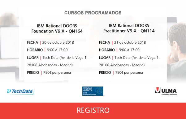 IBM Rational DOORS courses